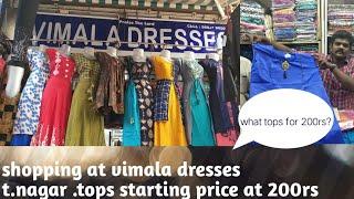 Shopping at vimala dresses t. Nagar