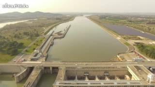 Barrage de Vallabrègues Écluse DRONE 4K