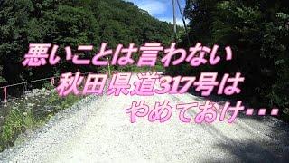 【MT-07】秋田県道317号をバイクで走行した
