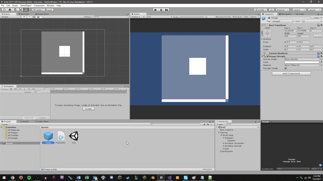 Unity UI Tutorial: Using Scroll Views and Grid Layouts