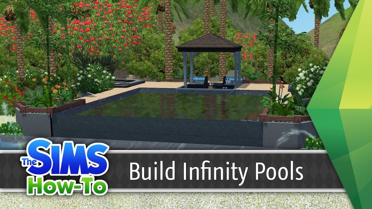 Building infinity pools in the sims 3 tutorial tsh 1 for Pool design sims 4