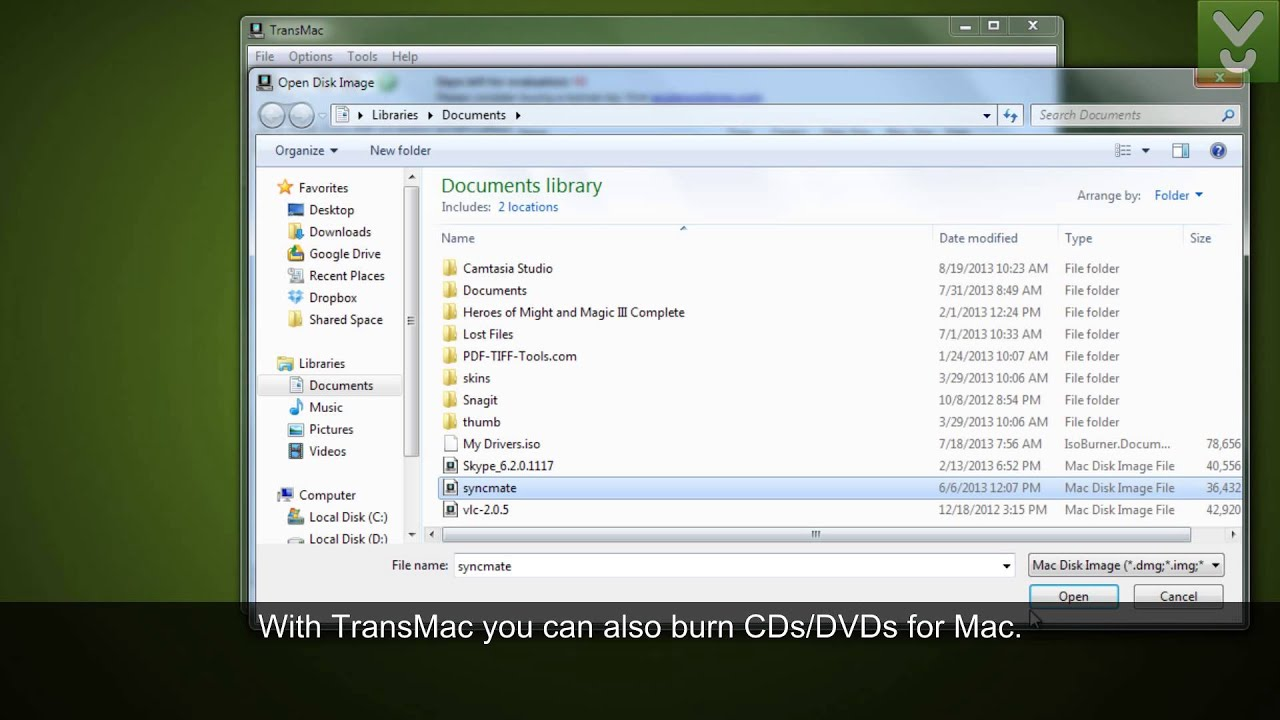 TransMac - Access Mac image files from your Windows PC - Download ... TransMac - Access Mac image files from your Windows PC - Download Video  Previews