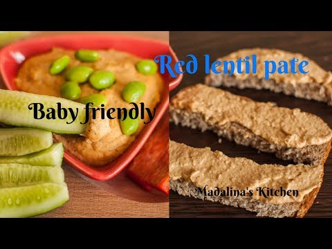 Red lentil pate// High iron, protein and energy// Baby friendly// VEGAN