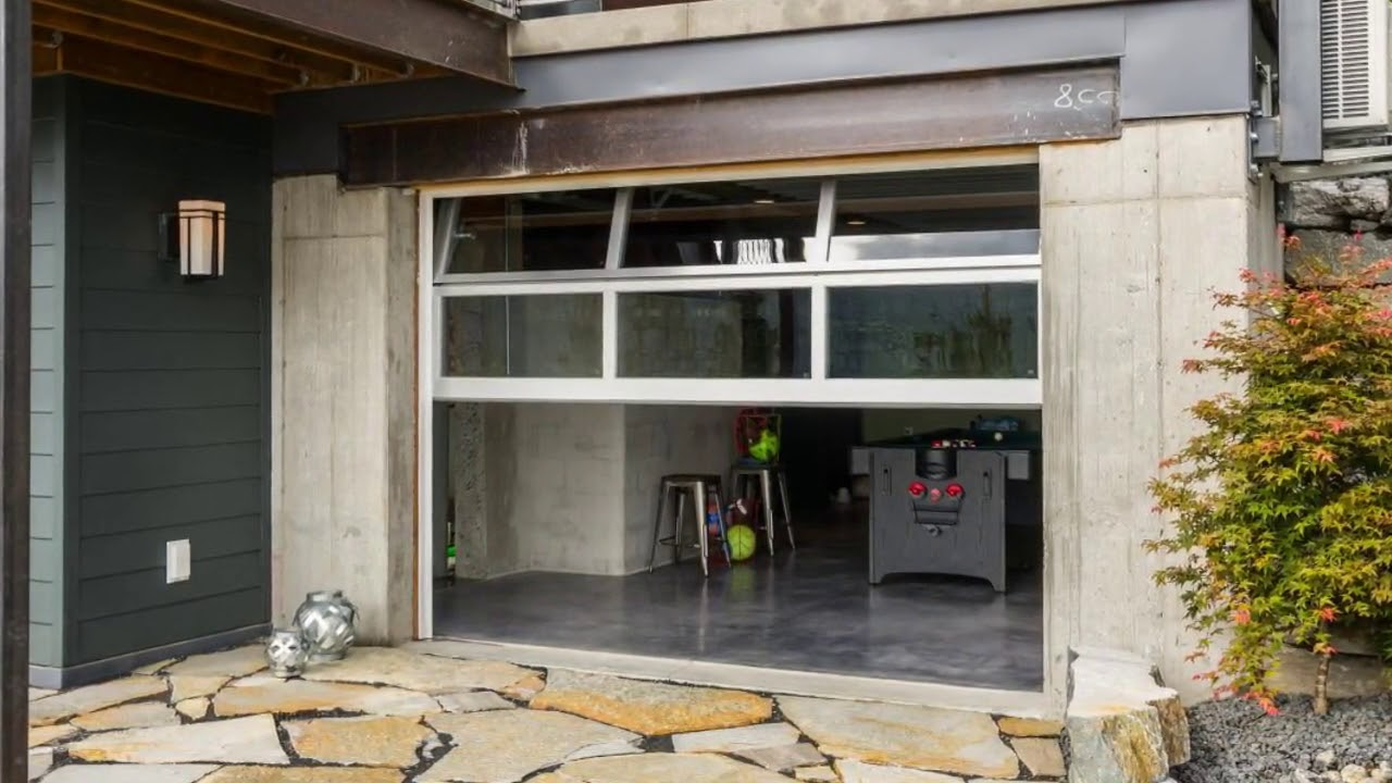 Roll up glass doors for patio