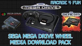 Sega Mega Drive Wheel Media Download Pack