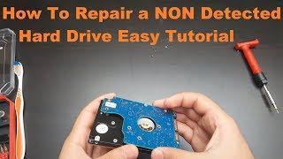 How to repair a hard drive That is not detected Easy Tutorial 2017 ✔