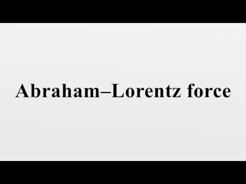 Abraham–Lorentz force