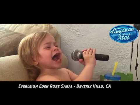 Katy Perry SHOCKED by young 2 year old singing talent!! Everleigh Eden Rose Sagal.