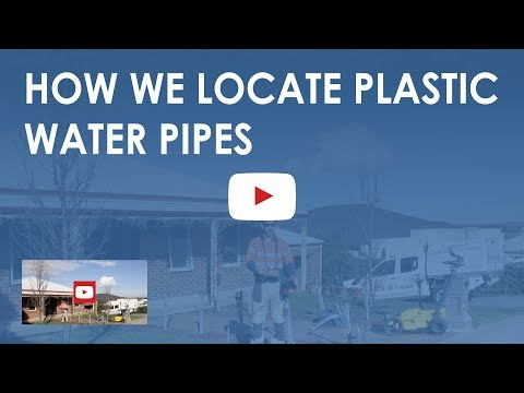 How We Locate Plastic Water Pipes