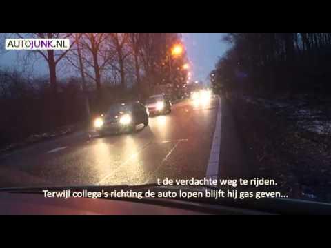 Rotterdam, Netherlands police chase + PIT maneuver dash cam
