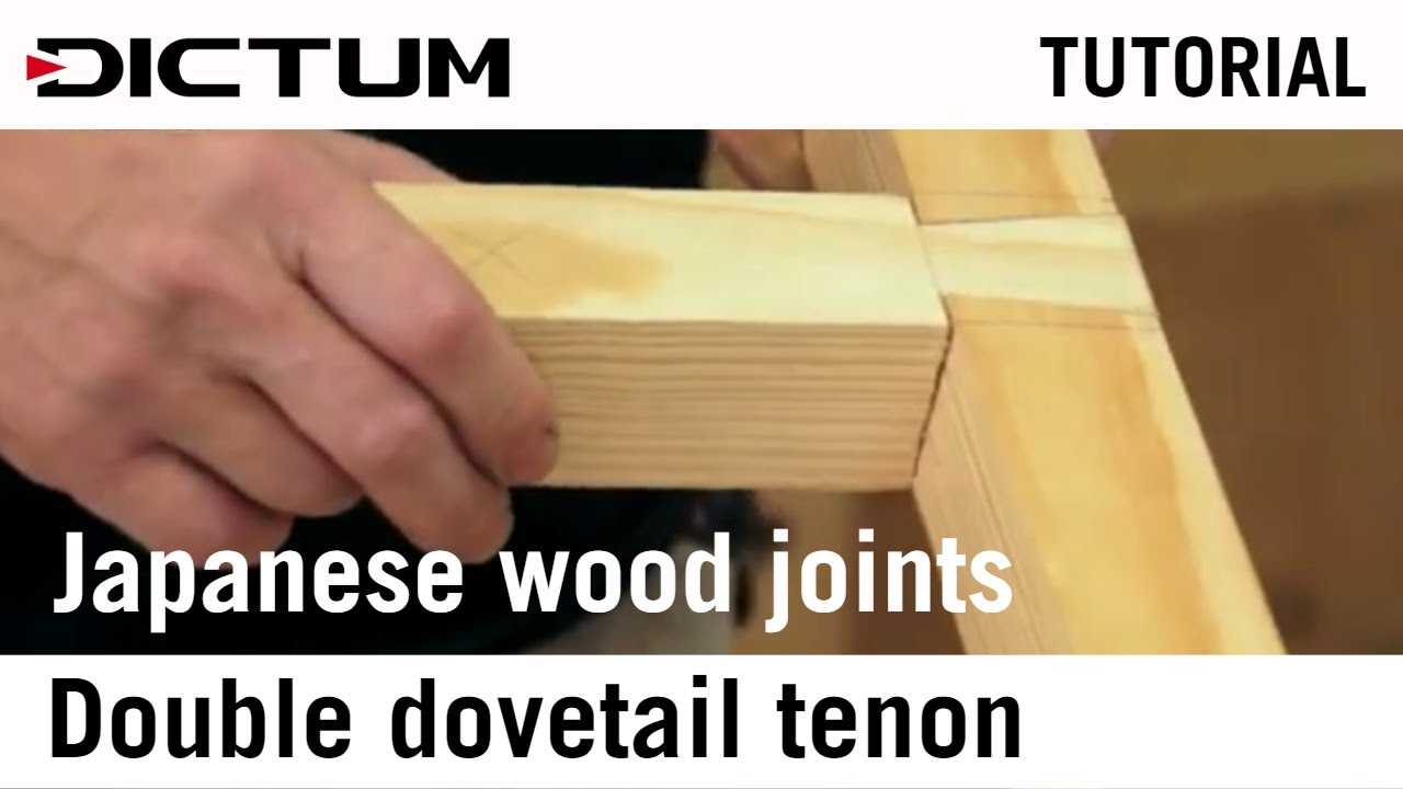 Download Impossible japanese wood joints - double dovetail joint - Tutorial