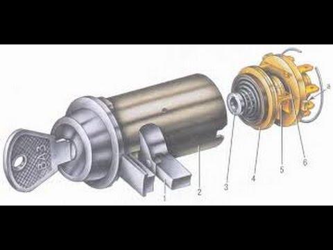 Замена контактной группы и личинки (сердцевины) замка зажигания ВАЗ 2101, Ignition lock repair