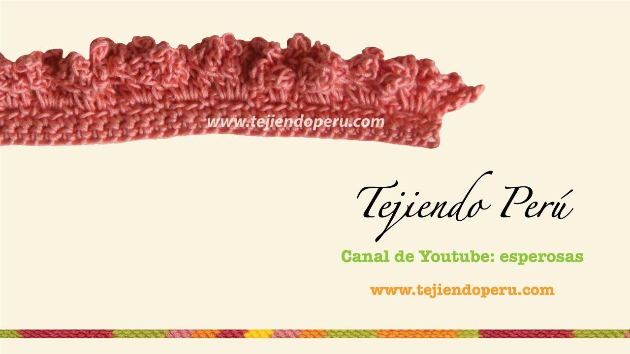 Cenefa para aplicar en crochet # 6 tejida a crochet - YouTube