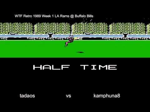 WTF Retro 1989 Week 1  LA Rams vs Buffalo Bills