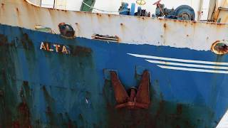 Mv Alta The Abandoned 'ghost Ship' Washed Ashore During Storm Dennis
