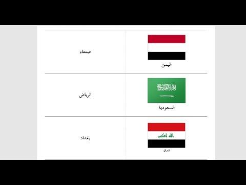 الدول العربية في آسيا وعواصمها Youtube