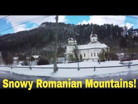 SNOWY ROMANIAN MOUNTAINS! Travel from Bran to Brasov, Romania  //  093