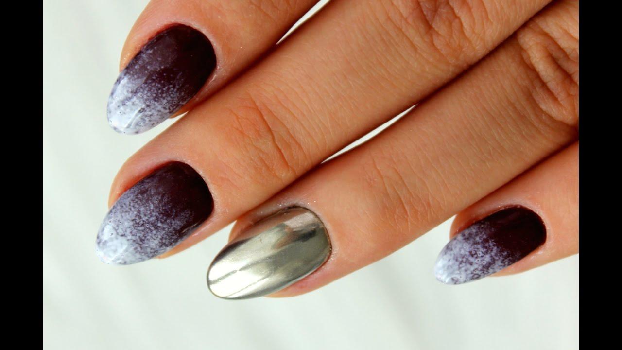 Paznokcie Hybrydowe Ombre Efekt Lustra Metal Manix Multi Chrome