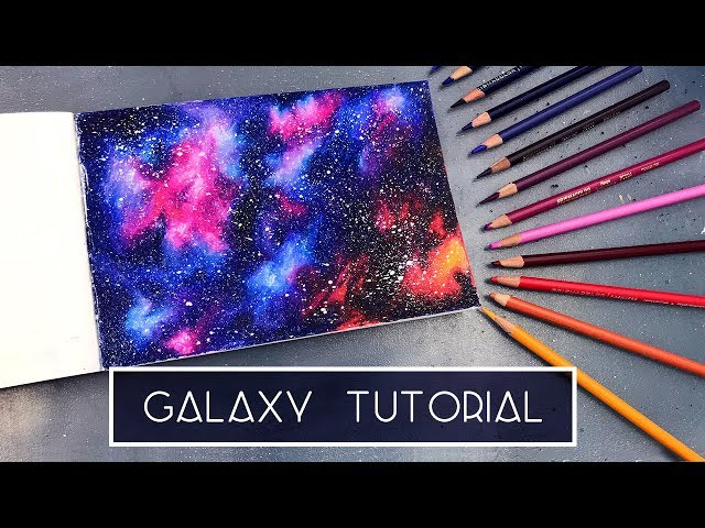 How to Draw a Galaxy | Coloured Pencil Tutorial
