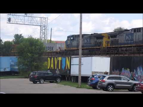 Afternoon Railfanning Action in Dayton, Ohio.  8/25/2017.