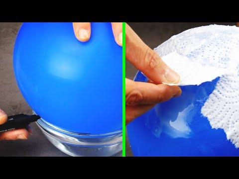 Обклеиваем шарик кусочками полотенец. Потрясающий результат!