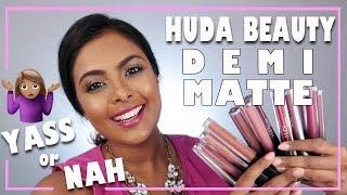 WORTH THE DRAMA? HUDA BEAUTY DEMI MATTE Review & Wear Test on Dark Skin #HUDABEAUTY