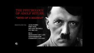 the Psychology Of Adolf Hitler And i Am Genocide  Academic Literacy Class Pr