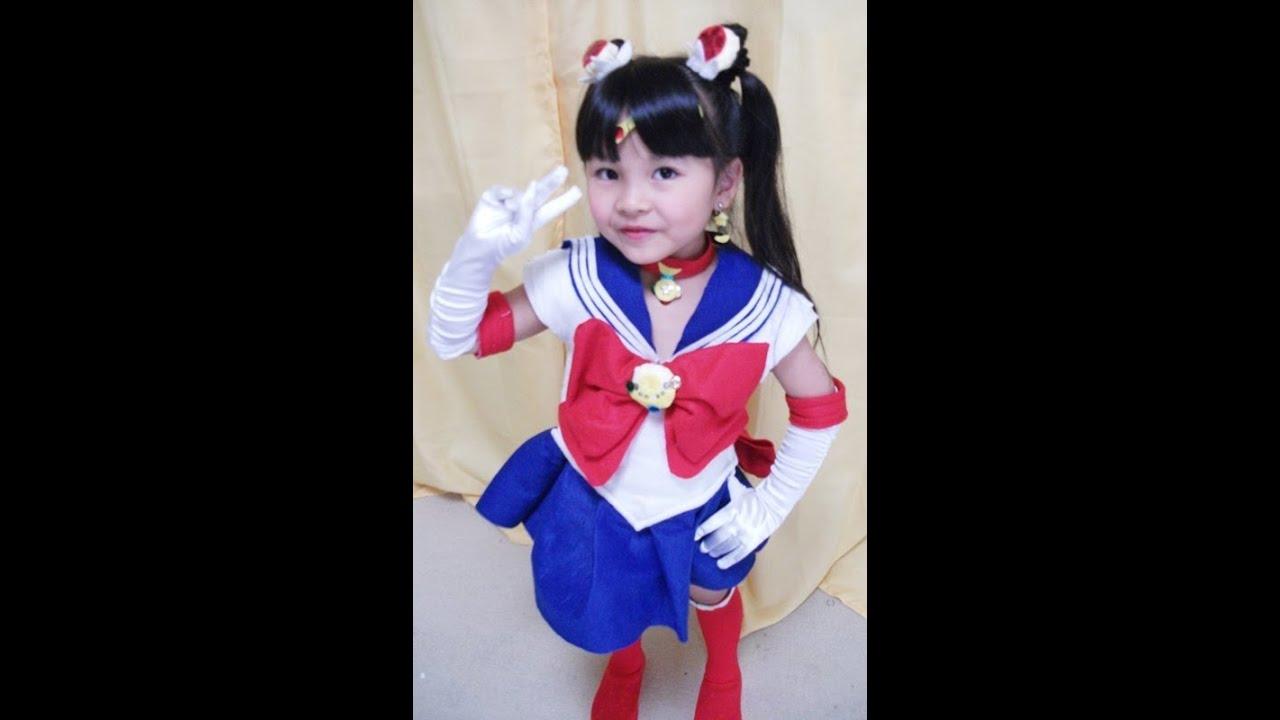 Download 【華月5歳】なりきり☆美少女戦士セーラームーン Sailor Moon  手作り衣装で変身してみた