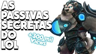 PASSIVAS SECRETAS NO LEAGUE OF LEGENDS! ZYRA GIGANTE? SABIA QUE EXISTEM INTERAÇÕES SECRETAS?
