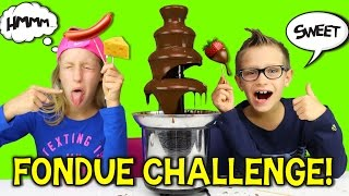 Download CHOCOLATE FONDUE CHALLENGE!! Mp3 and Videos