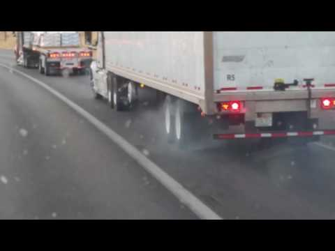 This is how new truck drivers drive !!!!  Unbelievable!!!!