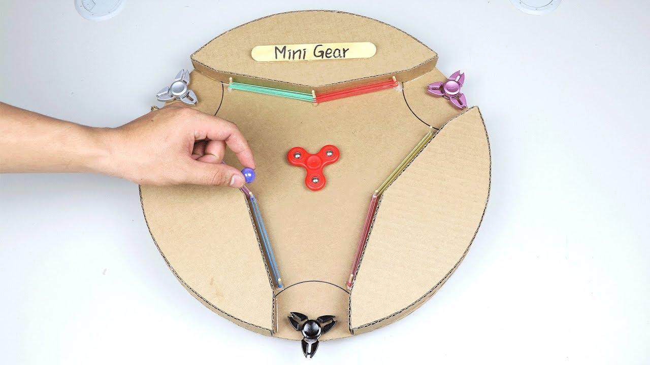 How To Make Desktop Fidget Spinner Multiplayer Challenge From Cardboard Youtube