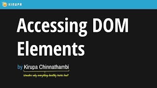 11. Accessing DOM Elements in React