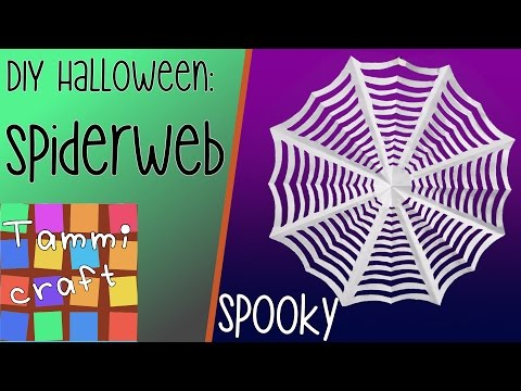 Halloween DIY: How to make a spider web - by Tammi Craft