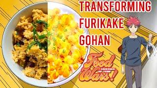 REAL FOOD WARS FOOD  How to make Transforming Furikake Gohan  Shokugeki no Soma  Anime Kitchen