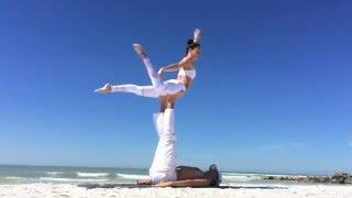 Andre & Juliette Acro Yoga Flow on Sunset Beach Florida