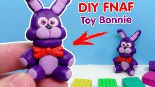 ФНАФ ИЗ ПЛАСТИЛИНА - КАК СЛЕПИТЬ БОННИ | DIY Five Nights at Freddy's Toy Bonnie from clay