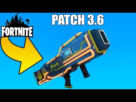 Patch 3.6 Lanceur a Gaz & Grenade collante ! Fortnite sauver le monde