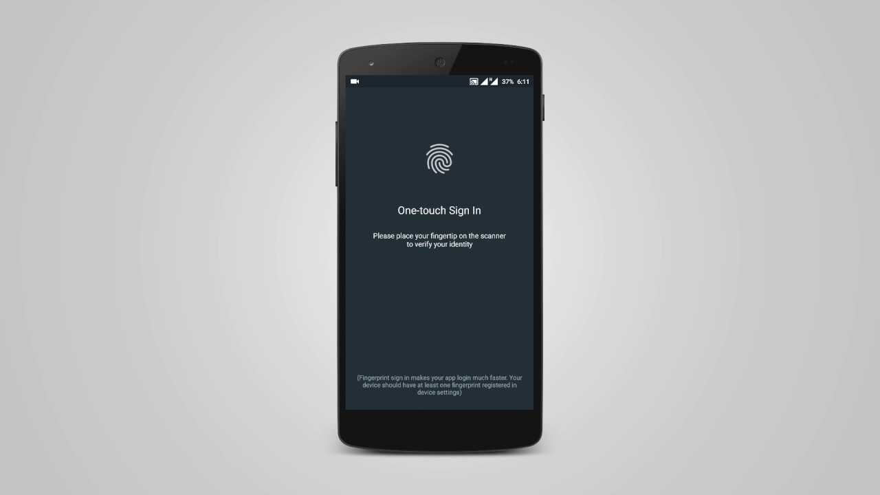 Android How to Add Fingerprint Authentication
