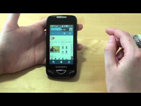 Samsung GT-B7722i Test Internet