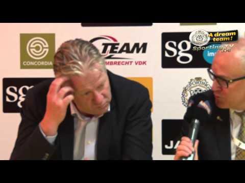 Interview Peter Maes na Lokeren - Oostende