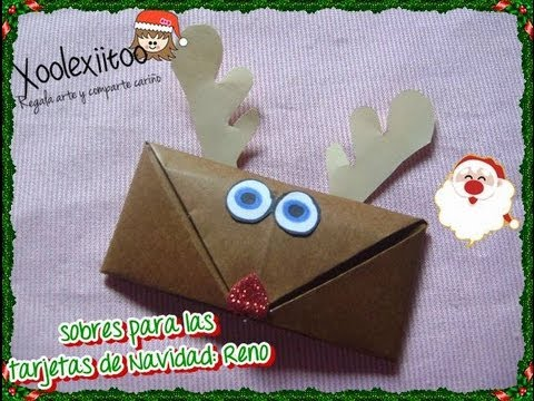 xoolexiitoo diy sobres para cartas o tarjetas de navidad reno youtube