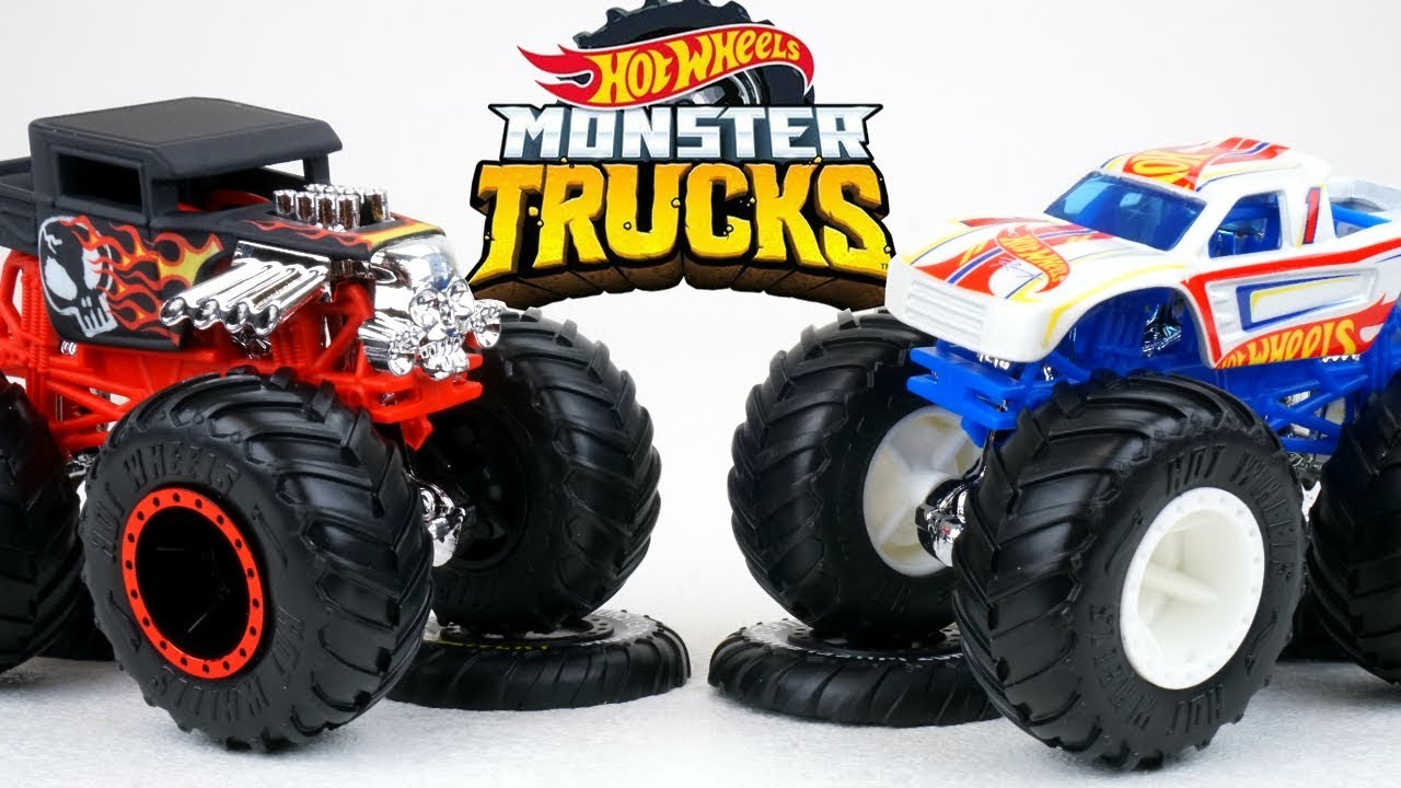 Hot Wheels Monster Trucks With Huge Tires Big Collection Of Racing Mania Cars Youtube