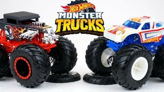 Hot Wheels MONSTER TRUCKS with Huge Tires Big Collection of Racing Mania  Cars