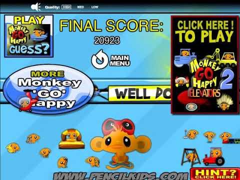 Мультик игра Счастливая обезьянка: Уровень 18 (Monkey Go Happly Stage 18)