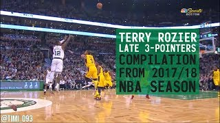 TERRY ROZIER LATE 3-POINTERS COMPILATION from 2017/18 NBA Season