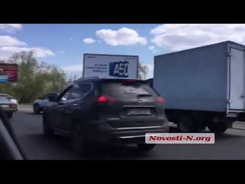 Новости-N: Пробка на Варваровском мосту в Николаеве