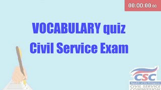 VOCABULARY exercises [Civil Service Exam]