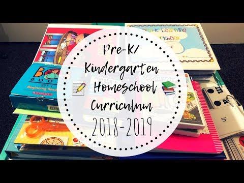 Pre-K/Kindergarten Homeschool Curriculum | 2018-2019