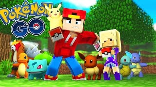 Minecraft Adventure - POKEMON GO, BABY ANGEL CATCHES A POKEMON!